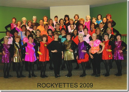 Rockyettes Group Photo 2009