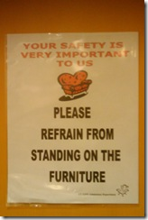 don't stand on the furniture 2